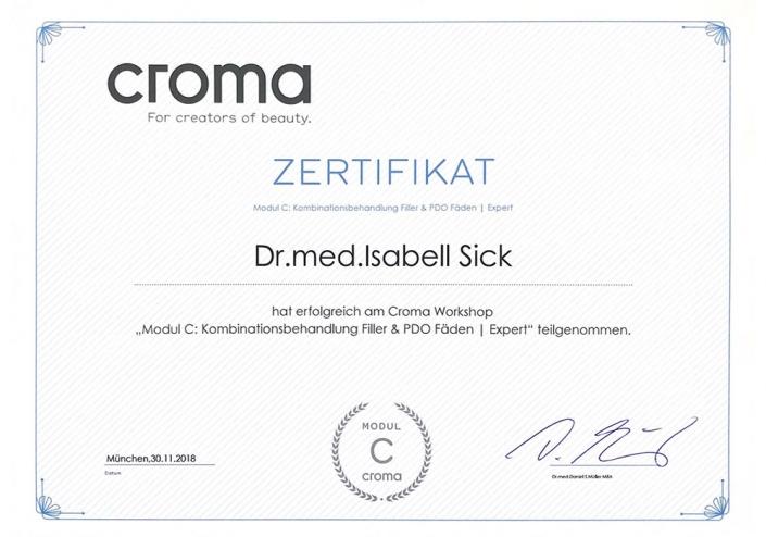 Croma Zertifikat