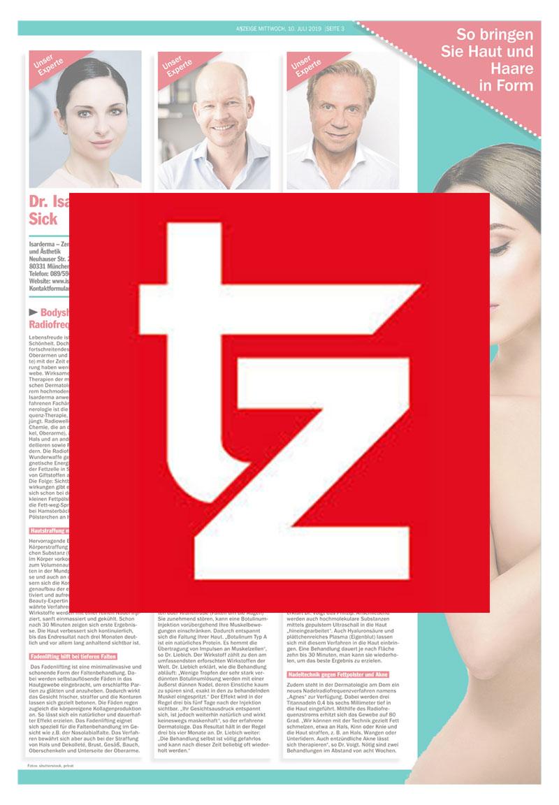 TZ 10.07.19 – Isarderma - Zentrum für Dermatologie und Ästhetik München